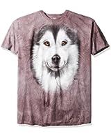Alaskan Malamute Face Dogs T Shirt Adult Unisex Mountain