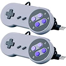 Quimat 2 Pcs Gamepad USB, SNES Controller / Portable Nintendo Gamepad for PC Raspberry Pi Windows Mac