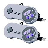 2 Pcs Mandos USB Raspberry Pi, Quimat SNES Controlador / Nintendo Gamepad de USB Portátil para PC Raspberry Pi Windows Mac