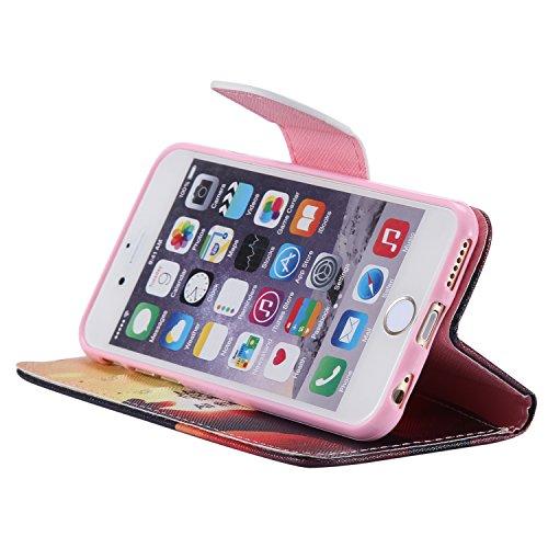 PU Cuir Coque Strass Case Etui Coque étui de portefeuille protection Coque Case Cas Cuir Swag Pour Apple iPhone 6 (4.7 pouces) +Bouchons de poussière (4HS) 3