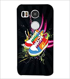 PrintDhaba Shoes D-4024 Back Case Cover for LG NEXUS 5X (Multi-Coloured)