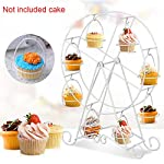 Ferris Wheel Cupcake Display Stand Holder 8-Cup Dessert Stand Cup Holder for Circus Party, Wedding, Kids Birthday - Metal Wire Frame