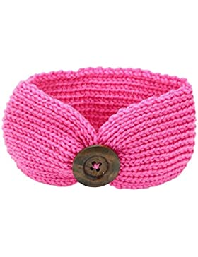Fashion Baby Girl Boy Knit crochet fascia invernale turbante Headwrap per neonato Pink