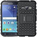 ykooe Handyhülle kompatibel with Samsung Galaxy J1 Hülle (2016) Schwarz