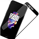 [Sponsored]AAA+ Quality 4D Oneplus 5 Tempered Glass | One Plus 5 Screen Guard | Premium Full Front Body Cover | Edge To Edge Screen Guard Protector - Black