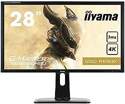 iiyama G-MASTER GB2888UHSU-B1 71 cm (28 Zoll) Monitor (VGA, HDMI1/2/3, DisplayPort, 1ms Reaktionszeit, 3840 x 2160, höhenverstellbar) schwarz