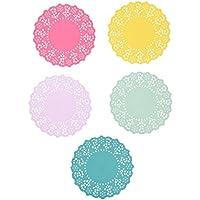 Talking Tables tapetes crochets a lunares con detalle florales vintage 'Truly Scrumpious' 'TS4.' Papel. Multicolor.