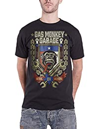 Gas Monkey Garage T Shirt Go Big or Go Home Spanner Logo Oficial de los Hombres