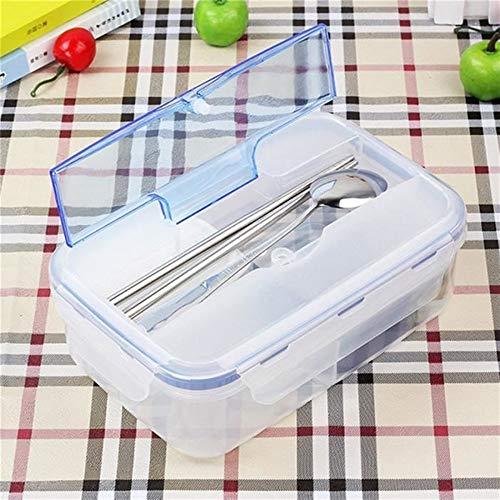 DDOQ Brotdose für Kinder, rechteckig, transparent, mikrowellenfest, auslaufsicher, 3-teilig