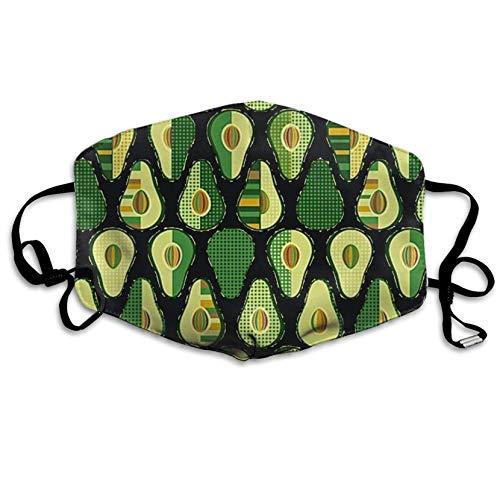 Avocado-gesichts-maske (Avocado Mundmaske, Unisex, bedruckt, modisch, Anti-Staub-Maske, Masken)
