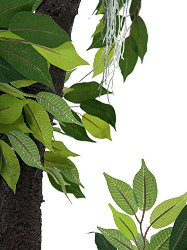 artplants Künstlicher Ficus Benjamini mit 955 Blättern, 150 cm – Künstliche Zimmerpflanze/Kunstpflanze Ficus