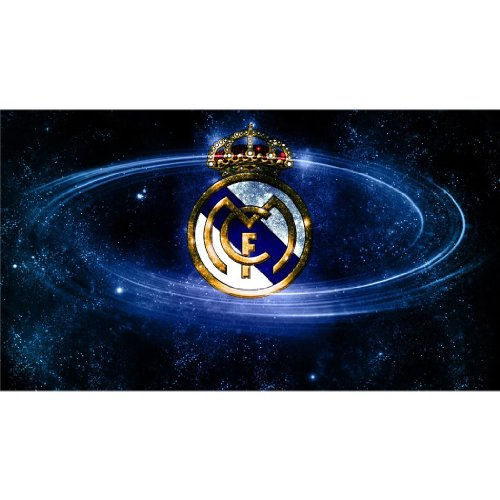 Real Madrid Poster On Silk <107cm x 60cm, 43inch x 24inch> &#8211; Cartel de Seda &#8211; 432B1B