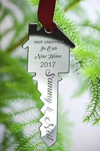 Personalised-Christmas-Tree-Decoration-Xmas-Bauble-Engraved-Gift-First-Christmas-in-OUR-New-Home
