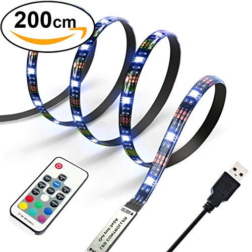 Diyife 2M 60 LEDs Retroiluminación de TV 5050 RGB Bias Iluminación para...
