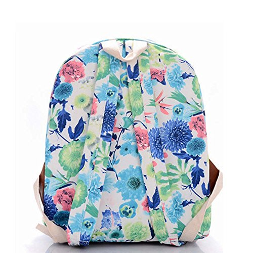 Stampa Zaino Floreale Zaino Canvas Zaino Coolpack Daypack Scuola Borsa Universale Bag Daypack per Donne Ladies Girls Fiori colorati di pittura ad olio