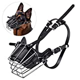 Yxczhis Pet Dog Supplies Pet Dog Mouth Breathable Adjustable Anti-Bite Metal Maulkorb Schutz Cover