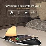 YOUXIU Chargeur sans Fil 10W capteur de Charge Rapide LED Veilleuse Tactile pour iPhone XS Max XR X 8 Plus Samsung Galaxy S10 S9 S8 Note 9/8,White