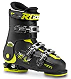 Roces Idea Scarponi da Sci, Unisex bambini, Black/Lime, MP 22.5-25.5