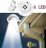 ZEZKT-Home Solar LED Licht Lampe, Lampe für Balkone, Terrassen, Garagen, Einfahrt & Treppen (Weiß)