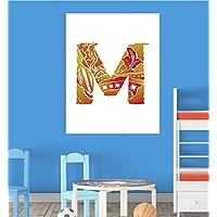 Alphabet M Nursery Children Educational Early Learning Poster Print Wall Art V2 preiswert