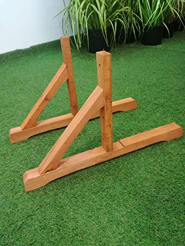 Dengshi supporti per fioriera in legno | coppia piedi ciliegio per grigliato con viti incluse | base sostegno pannello graticolato da giardino