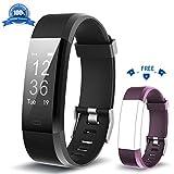 HolyHigh Fitness Armband YG3 Plus HR Pulsuhr Aktivitätstracker mit Herzfrequenz Monitor/wasserdichter/Schrittzähler/Anrufbenachrichtigungen/Ruhemodus/Kamerabedienung für Android und iOS …