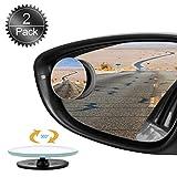 Auto Specchio Laterale Universale 360 Grandangolare Regolabile 2 Pack Uni-Fine Rotazione di 360 /° HD Specchietti per Angolo Morto Specchio Punto Cieco Regolabile