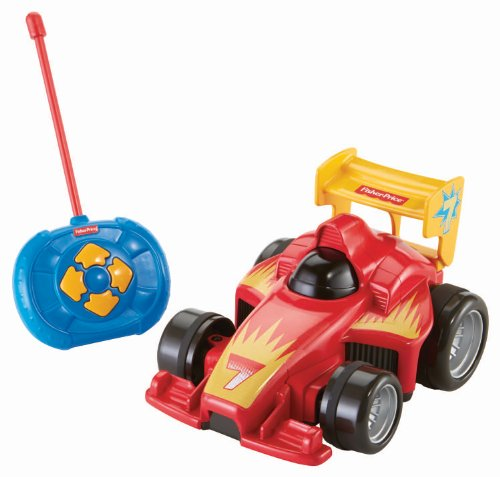 ferngesteuertes auto fuer kleinkinder Fisher-Price BHX87 Fernlenkflitzer ferngesteuertes Auto Motorikspielzeug mit Fernbedienung für Kinder, ab 3 Jahren, rot