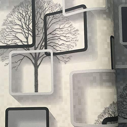 Carta da parati tridimensionale camera da letto soggiorno TV sfondo muro casella quadrata carta da parati KG8071 metri di bianco