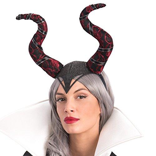 Carnival Toys 6193 Kopfbedeckung Maleficent, Rot/Schwarz, one size (Maleficent' Kostüm Amazon)
