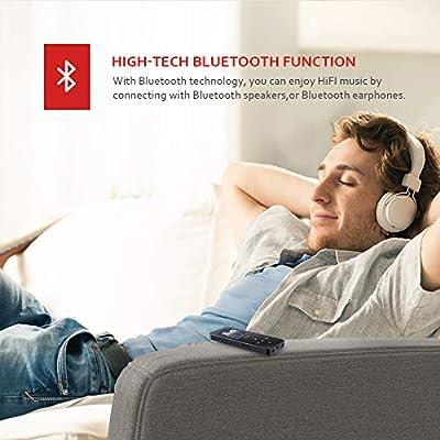 Victure 16Go Lecteur MP3 Bluetooth 4.1 Portable Tactile Bouton Lecteur Musique Haut-Parleur Intégré Enregistrement FM Soutien 64GB TF Carte de Victure