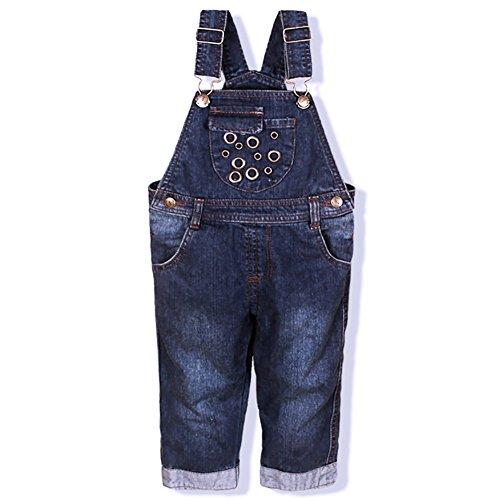 [Jeanslatzhose Kinder Baby] Latzhose Mädchen Jungen Baby Kleinkind Jeanshose Latzhosen Baumwolle Tasche Jeans Hosen Baby Kinder Overall 12-18 Monate