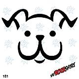 Süßer lustiger Hund Hundekopf Auto Aufkleber Hundeaufkleber Kinderzimmer 20 cm Hund Hunde Sticker Autoaufkleber Auto Aufkleber Hundeaufkleber `+ Bonus Testaufkleber 'Estrellina-Glückstern'und Estrellina-Montage-Rakel, gedruckte Montageanleitung 'myrockshirt', waschanlagenfest,Profi Qualität Aufkleber, Tuning,Sticker,Autoaufkleber,Heckscheibe,Lack,Autologo