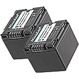 2x Minadax® qualitaets Batterie avec véritable 1500mAh pour Panasonic NV de GS10GS150gs180GS200gs22GS230GS25GS250GS27GS35GS60GS75, comme/CGA-DU14–Système de batterie intelligent avec puce