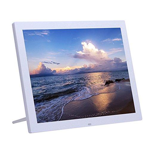 BigTron 15Inch 4: 3 Digitaler Bilderrahmen – 1024 * 768 High Solution Elektronischer Bilderrahmen mit USB, USB mini, SD Interface(Weiß)