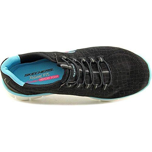 Skechers (SKEES) Flex Appeal - Pretty City, Scarpa Tecnica Donna Black Blue