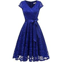 Suchergebnis auf Amazon.de für: Damen Kleid, royalblau - 4 ...