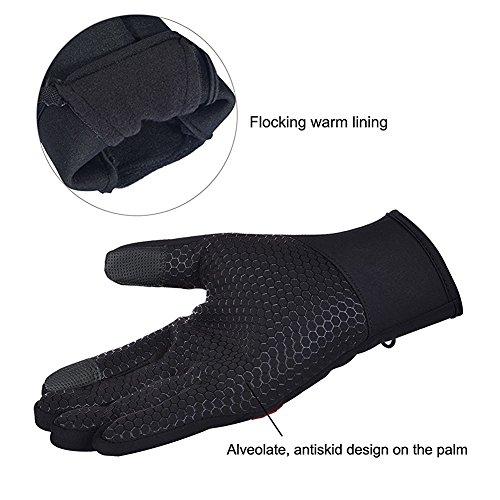 Limirror wasserdichter Touchscreen Handschuhe Winter Fahrradhandschuhe Laufhandschuhe Sports Handschuhe mit Touchscreen Funktion … (L) - 5