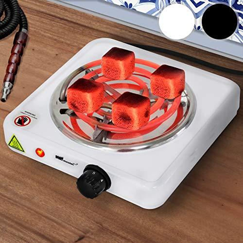 broil-master Elektrischer Kohleanzünder für Shisha - 1000W Leistung, Farbwahl, Hitze regulierbar - Heizplatte, Heizspirale, Grillanzünder