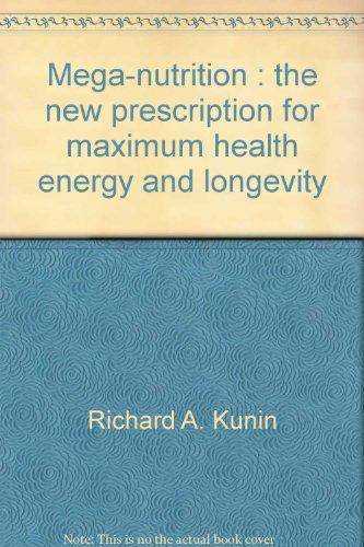 Title: Mega Nutrition A Plume book