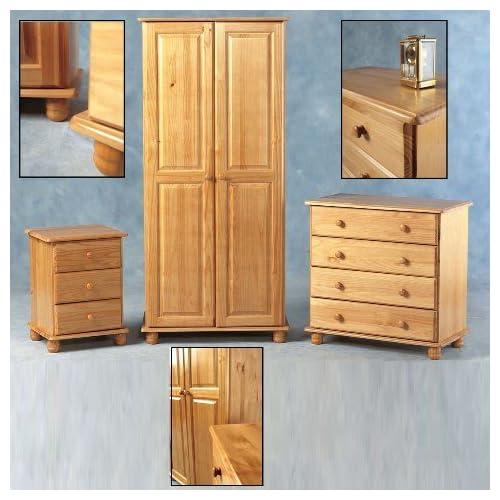 SOL Super Trio Bedroom Set in Antique Pine