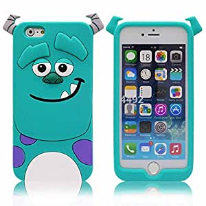 Go Crazzy Cartoon Monsters Sulley Back Case For Apple iPhone 6 (Sky Blue)