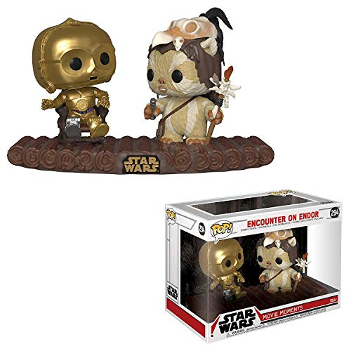 Funko- Pop Vinilo: Star Wars: C-3PO on Throne Figura Coleccionable, Multicolor, Estándar (37593)