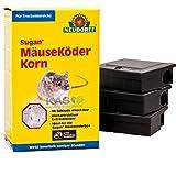 Sugan MäuseKöder Set (120g Korn, 3 Köderboxen)