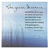 Spruchtafel aus Glas - Glasplatte bedruckt mit Text Von guten Mächten, Dietrich Bonhoeffer - 13,5x13,5cm