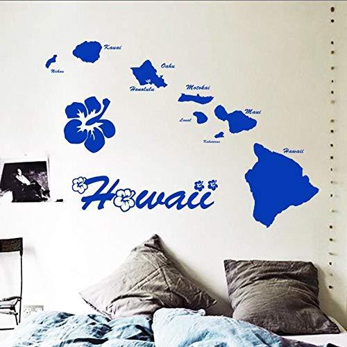 Fagreters 90X131,5 Cm Art Günstige Vinyl Dekoration Hawaii Inseln Wandaufkleber Removable House Decor Name Zitat Karte Aufkleber Im Wohnzimmer Schlafzimmer
