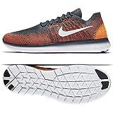 Nike Freie RN Flyknit 2017 880843 401 14 D (M) US Blue Fox/Weiß / Total Purpurnen