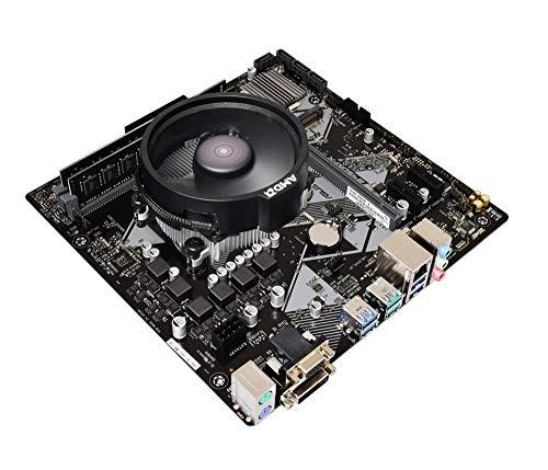 ADMI CPU Motherboard Bundle: AMD Ryzen 3 2200G 3.Op CPU mit Radeon Vega 8 Grafik, ASUS Prime B450M-K Motherboard, 2400 MHz DDR4 RAM 0 RAM (Cpu Ram Motherboard)