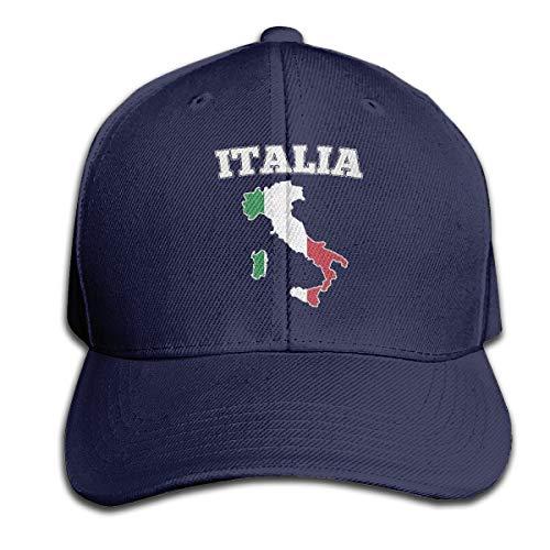 Osmykqe Italy Map Flag Unisex Sommer Sonnenhut einstellbar lässig Golf Tennis Caps