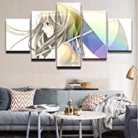 wfdmd Wall Pictures For Living Room Decor Wall Art 5 Pcs Anime Original The girl with the umbrella Canvas Painting Picture Poster